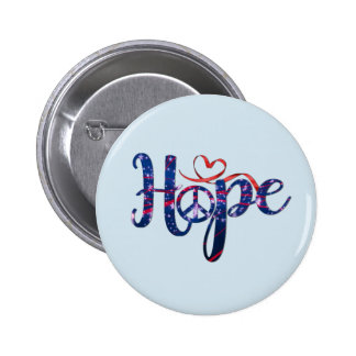 Hope For Peace Buttons