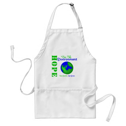 Hope For The Environment Save Earth Go Green Apron
