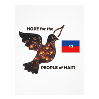 Hope for the people of Haiti - Flag 21.5 Cm X 28 Cm Flyer