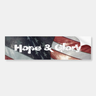 Hope & Glory Bumper Sticker