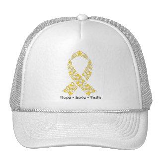 Hope Gold Awareness Ribbon Cap