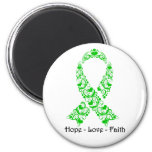 Hope Green Awareness Ribbon 6 Cm Round Magnet