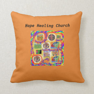 Hope Healing Church Christian Cross Throw Pillow