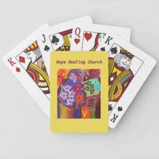 Hope Healing Church Christian Love Playing Cards