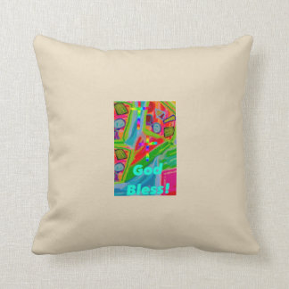 Hope Healing Church God Bless Throw Pillow