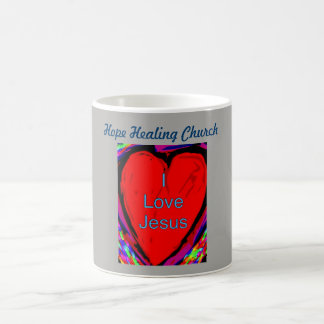 Hope Healing Church I Love Jesus Coffee Mug Cup