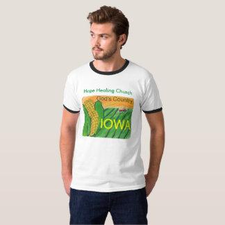 Hope Healing Church Iowa Farming Ringer T-Shirt