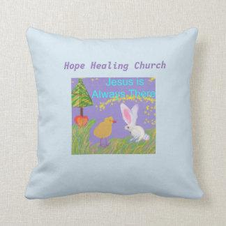Hope Healing Church Jesus Holiday Throw Pilllow Cushion