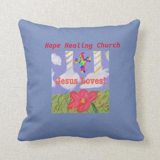 Hope Healing Church Jesus Loves Saves Coffee  Mug Cushion