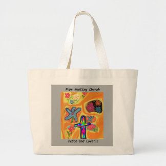 Hope Healing Church Jesus Peace Love Tote Bag