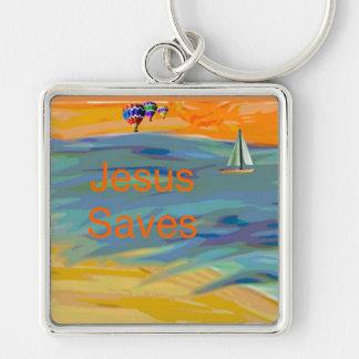 Hope Healing Church Jesus Saves Beach Key Chain