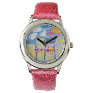 Hope Healing Church Jesus Saves Glitter Watch
