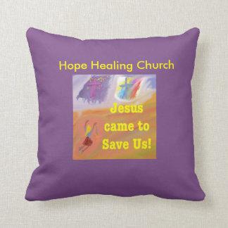 Hope Healing Church Jesus Saves Throw Pillow