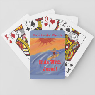Hope Healing Church Jesus Surfing Playing Cards