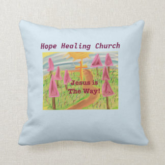 Hope Healing Church Jesus The Way Throw Pillow