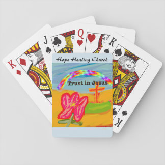 Hope Healing Church Trust in Jesus Playing Cards