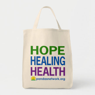 Hope, Healing, Health Grocery Tote-Full Color Tote Bag