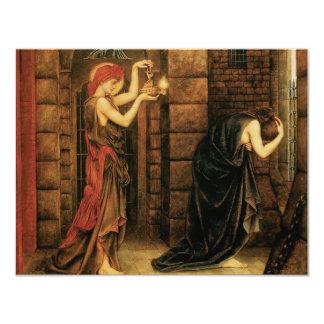 Hope in a Prison of Despair by Evelyn De Morgan 11 Cm X 14 Cm Invitation Card