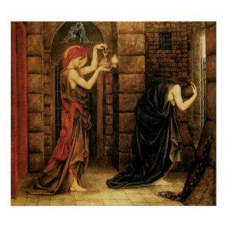 Hope in a Prison of Despair by Evelyn De Morgan Poster