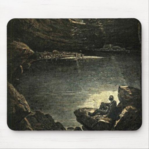 Hope in the Darkness Illustration Mousepads