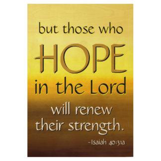 HOPE Inspirational Scripture Church Wall Art Wood Poster