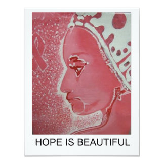 Hope is Beautiful cards 11 Cm X 14 Cm Invitation Card