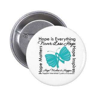 Hope is Everything Interstitial Cystitis Awareness 6 Cm Round Badge