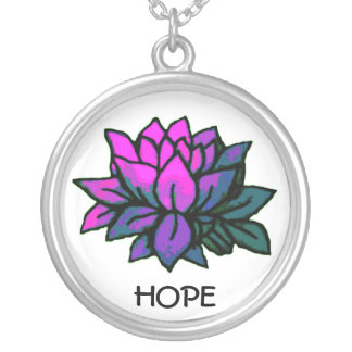 Hope Lotus Silver Plated Necklace