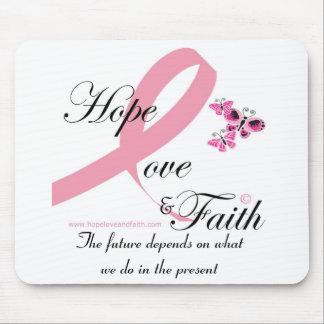 Hope love and faith mousepad
