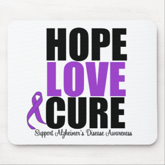 Hope Love Cure Alzheimer s Disease Mouse Pads