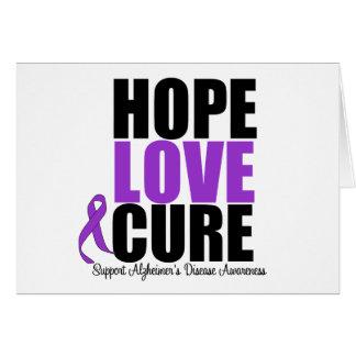 Hope Love Cure Alzheimer's Disease Card