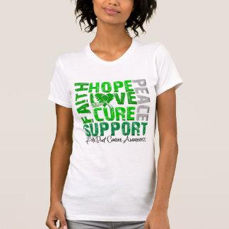 Hope Love Cure Bile Duct Cancer Awareness Tee Shirt
