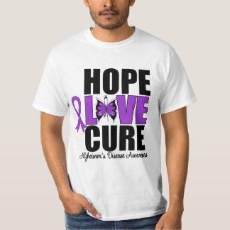Hope Love Cure Butterfly Art Alzheimer's Disease Shirts