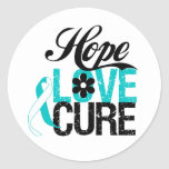 Hope Love Cure CERVICAL CANCER Gifts Stickers