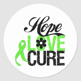 Hope Love Cure for Mental Health Sticker