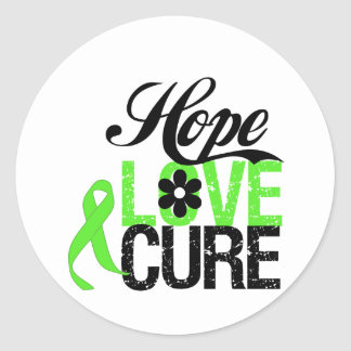Hope Love Cure for Mental Health Round Sticker