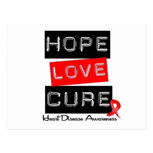 Hope Love Cure Heart Disease Post Card