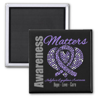 Hope Love CURE Hodgkin's Lymphoma Square Magnet