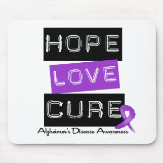 Hope Love Cure Label Alzheimer s Disease Mousepad
