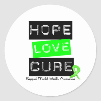 Hope Love Cure - Mental Health Awareness Stickers