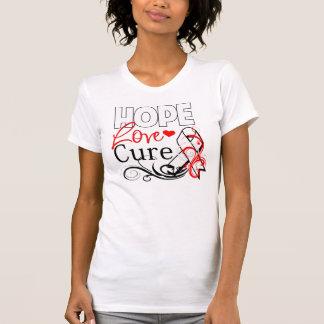 Hope Love Cure - Mesothelioma Awareness Tshirts