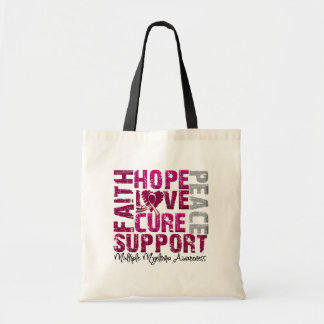 Hope Love Cure - Multiple Myeloma Awareness Budget Tote Bag