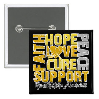 Hope Love Cure Neuroblastoma Awareness Pins