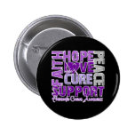 Hope Love Cure Pancreatic Cancer Awareness Pinback Button
