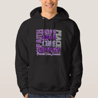 Hope Love Cure Pancreatic Cancer Awareness Hoodie