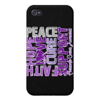 Hope Love Cure Pancreatic Cancer Awareness iPhone 4 Cases