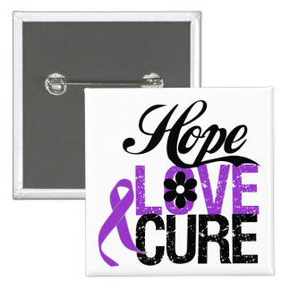 Hope Love Cure PANCREATIC CANCER Gifts Buttons