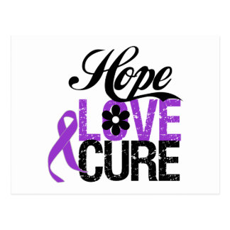 Hope Love Cure PANCREATIC CANCER Gifts Postcard