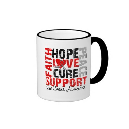 Hope Love Cure Skin Cancer Awareness Mug