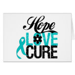 Hope Love Cure Tourette Syndrome Greeting Card